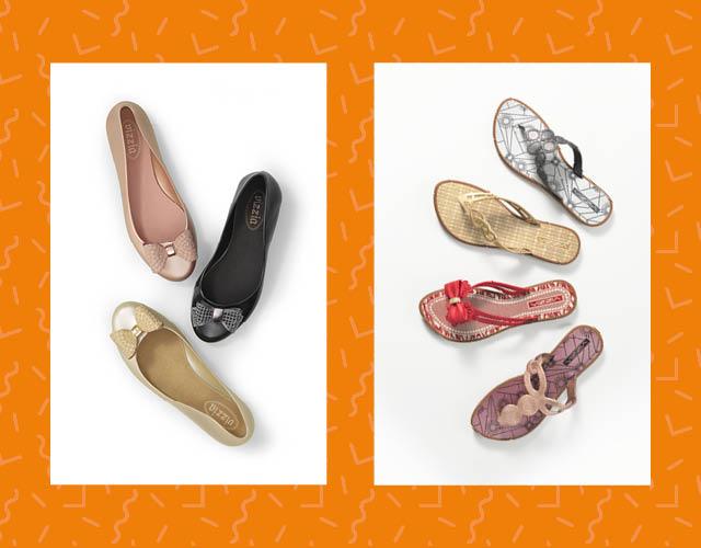Verão à vista! Adiante o mood da nova estação com sapatilhas e chinelinhos confortáveis e com a cara do verão. O preço? Tá incrível! Apenas R$ 19,99.